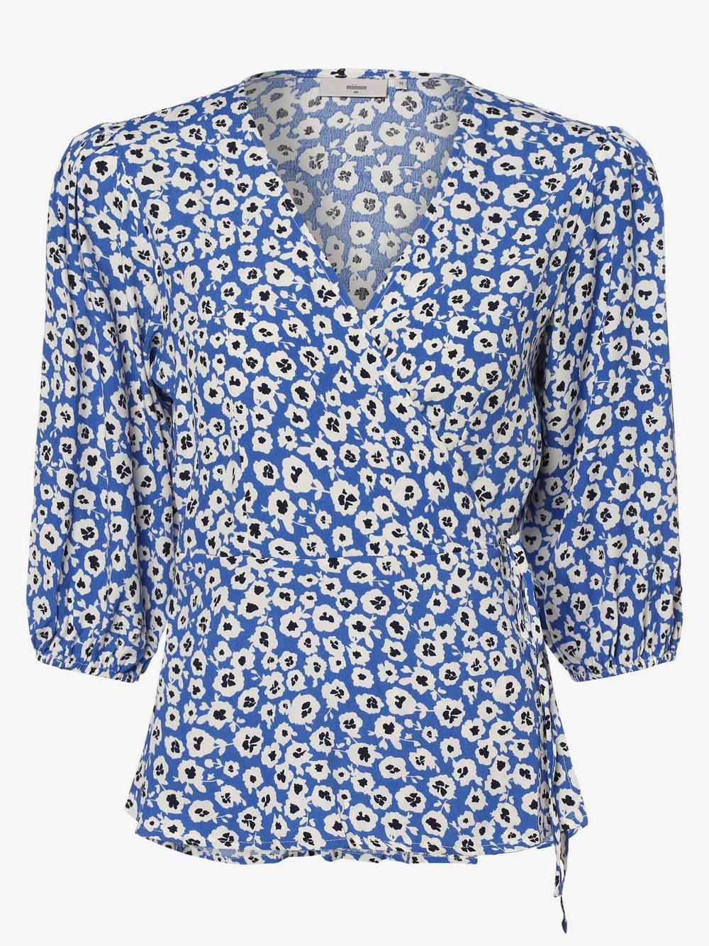 Minimum – Bluzka damska – Melany, niebieski Van Graaf 464888-0001-00400