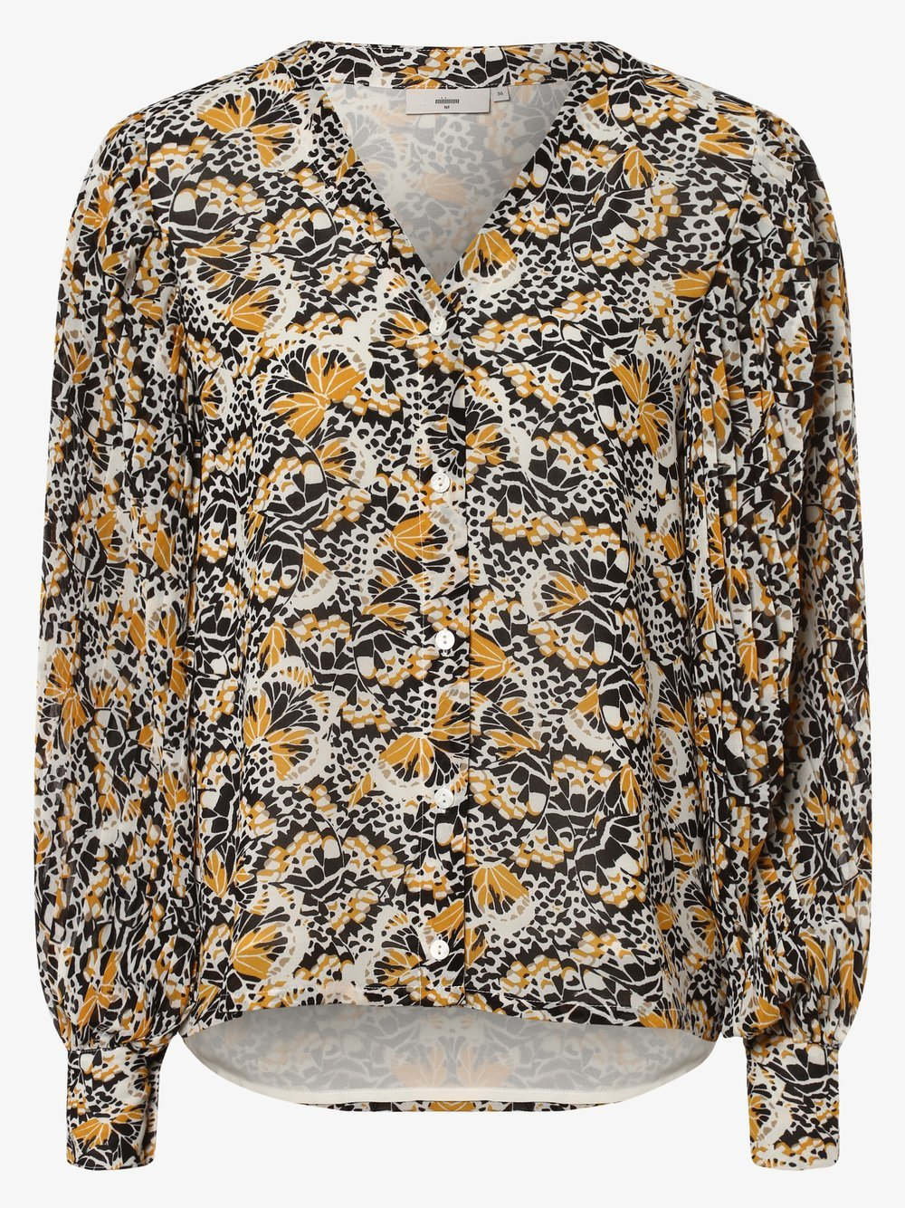 Minimum – Bluzka damska – Minusa, żółty Van Graaf 464889-0002