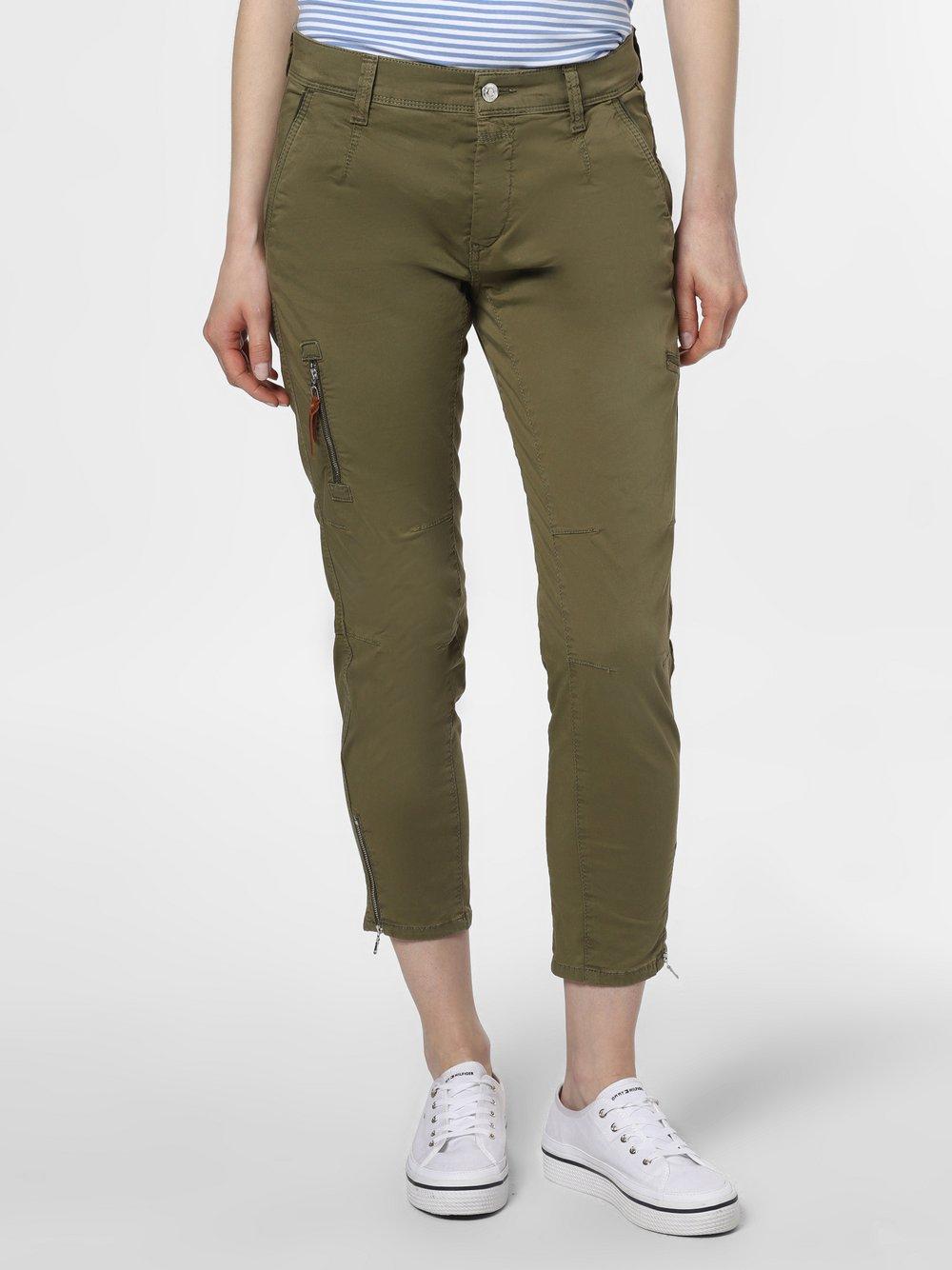 MAC - Spodnie damskie – Rich cargo cotton, zielony