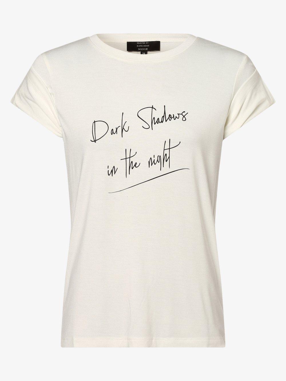 NIKKIE – T-shirt damski, biały Van Graaf 465066-0002