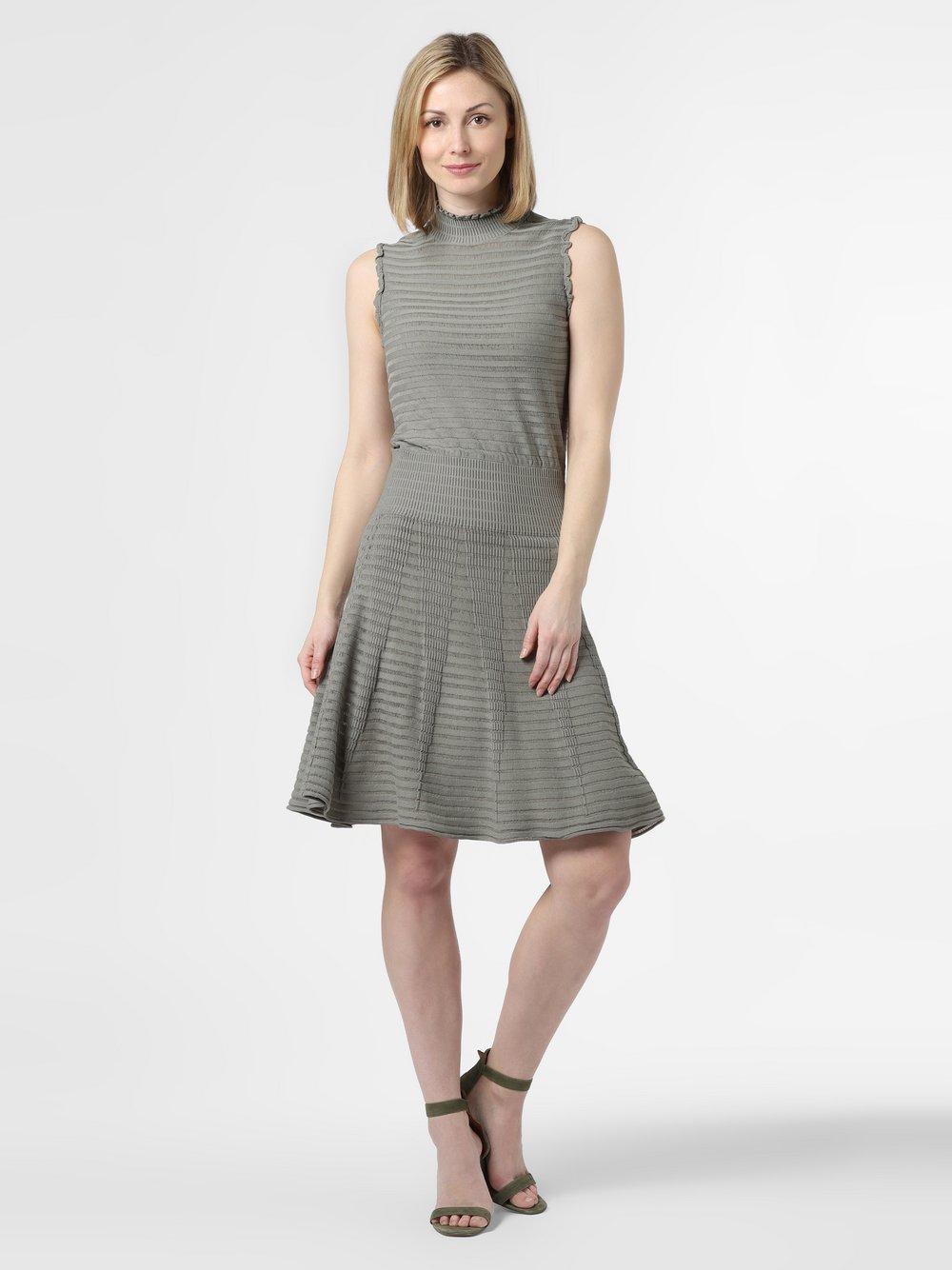 NIKKIE – Sukienka damska – Kassy, zielony Van Graaf 465076-0001-00360