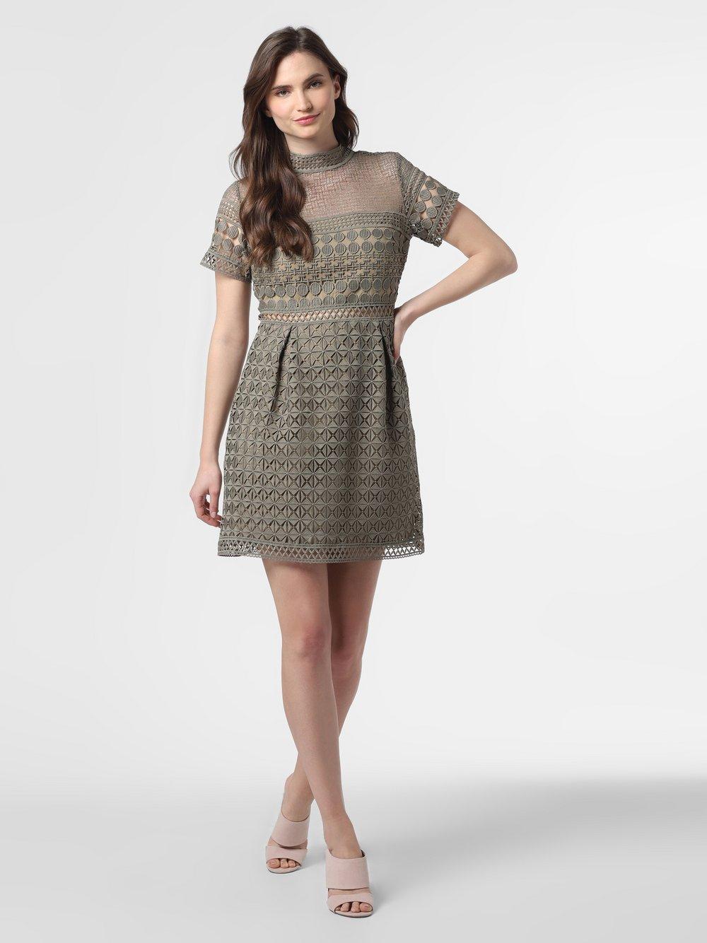 NIKKIE – Sukienka damska – Nora, zielony Van Graaf 465079-0001-00380