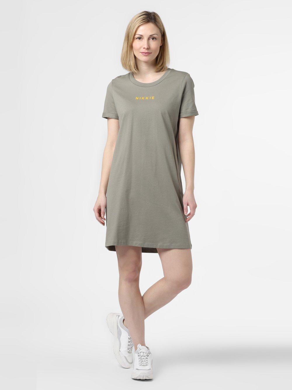 NIKKIE – Sukienka damska – Nikkie, zielony Van Graaf 465089-0001-00380