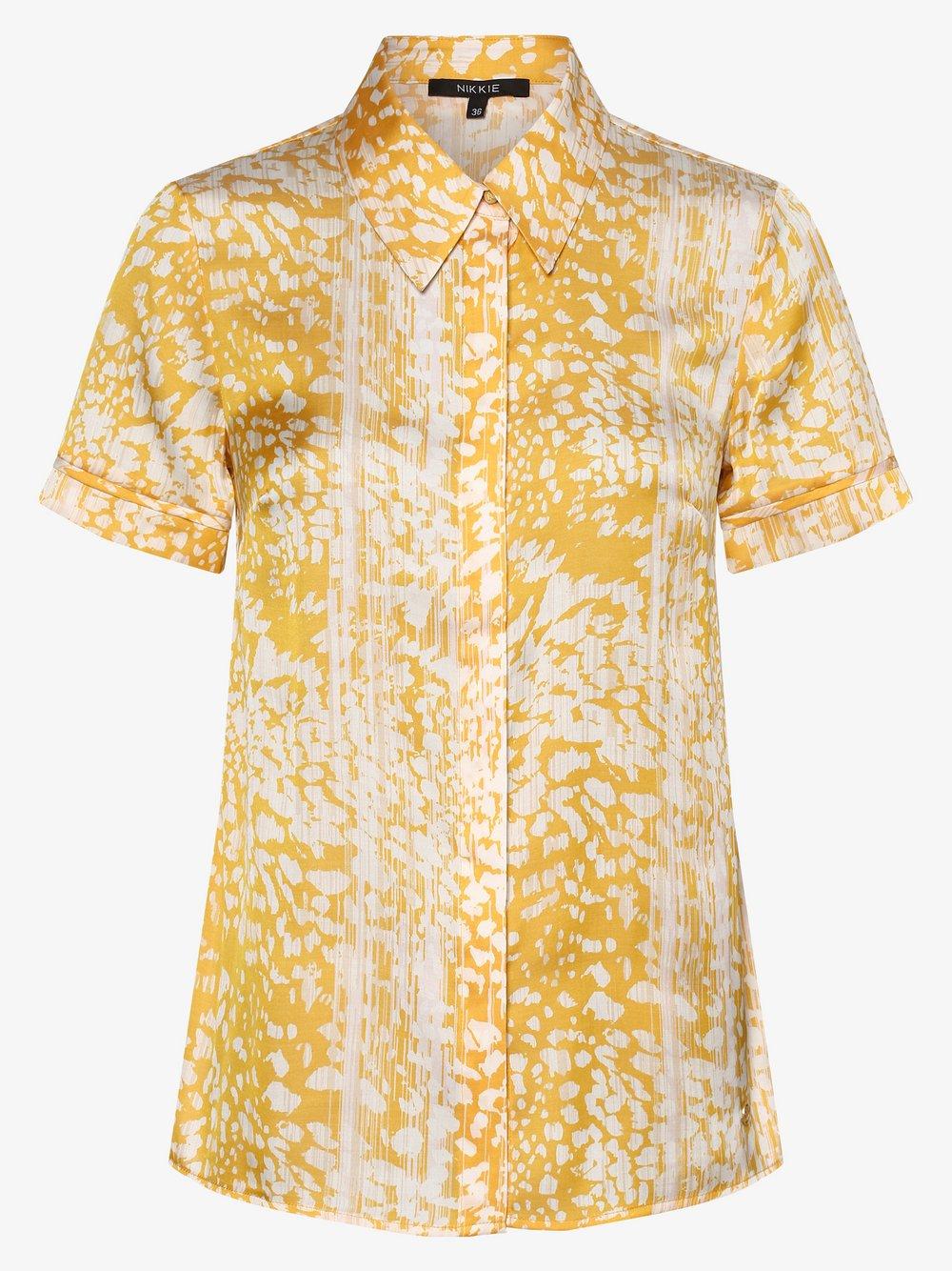 NIKKIE – Bluzka damska – Rana, żółty Van Graaf 465103-0001-00340