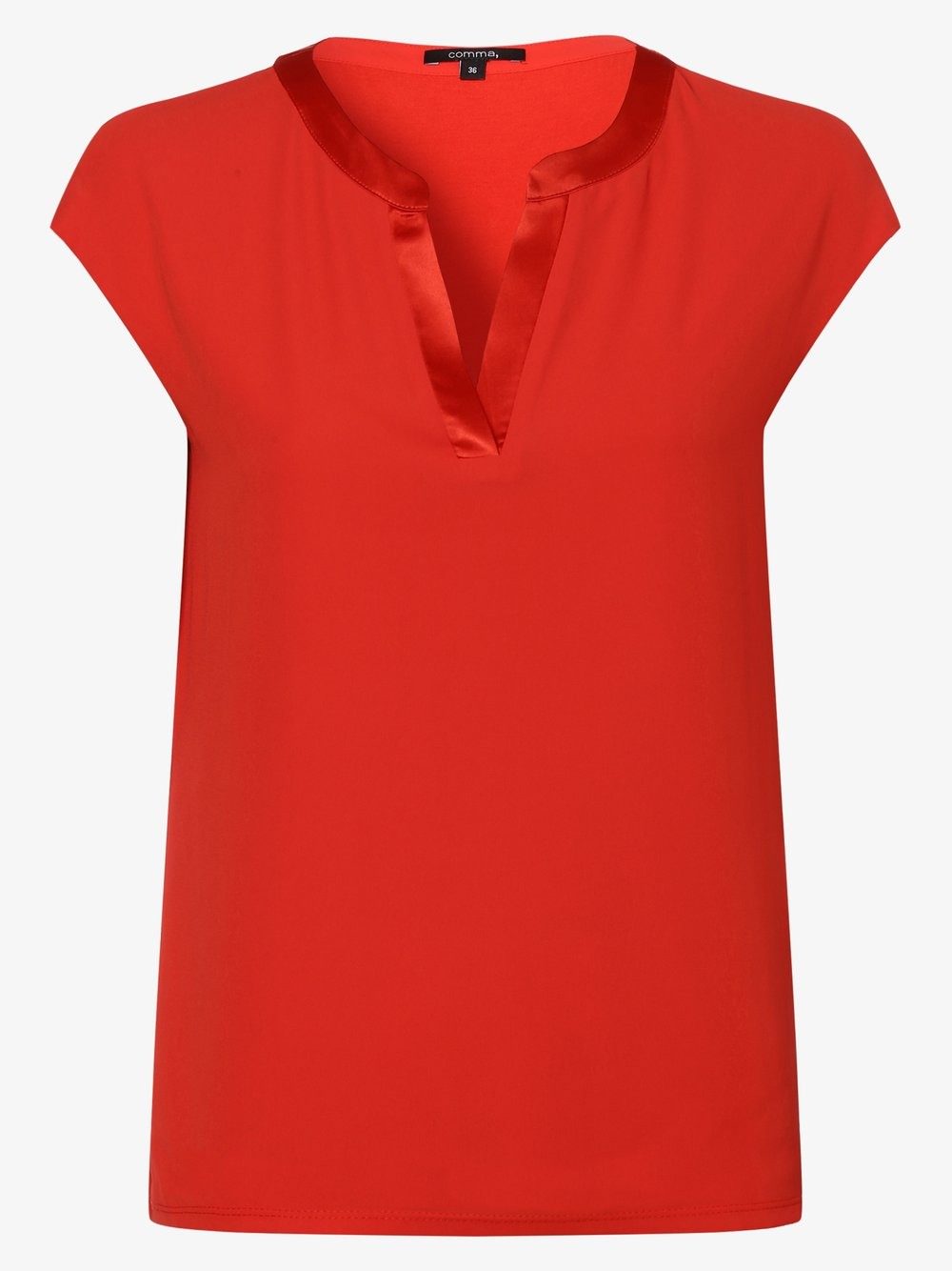 comma - Damska bluzka bez rękawów, czerwony