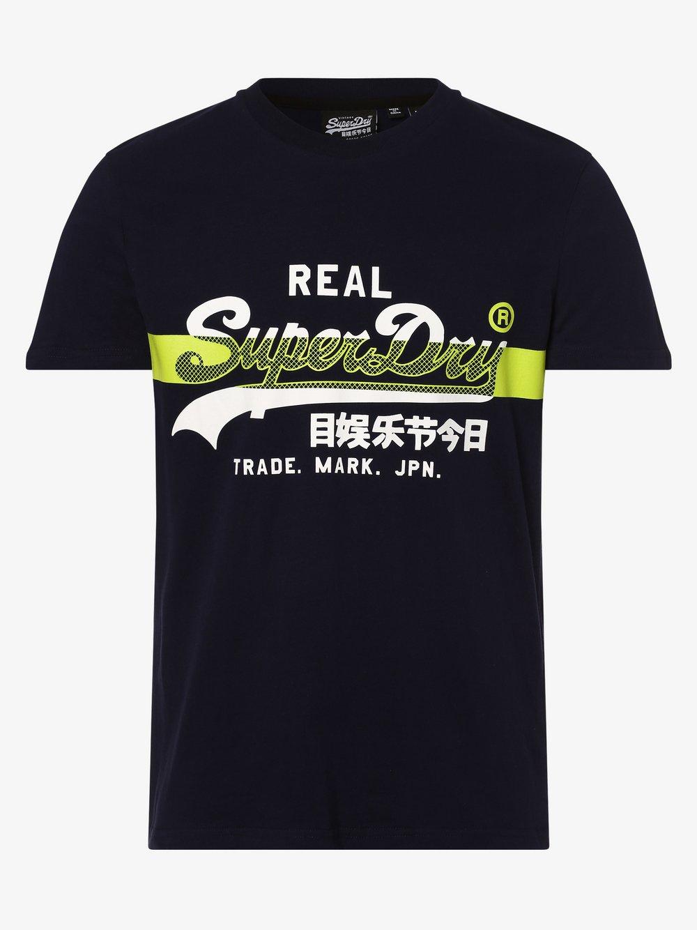 Superdry - T-shirt męski, niebieski