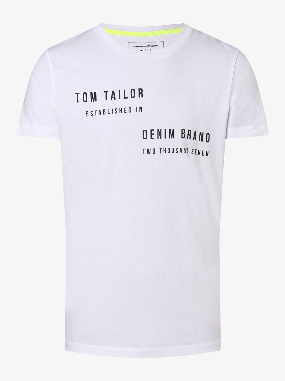 Tom Tailor Denim - T-shirt męski, biały