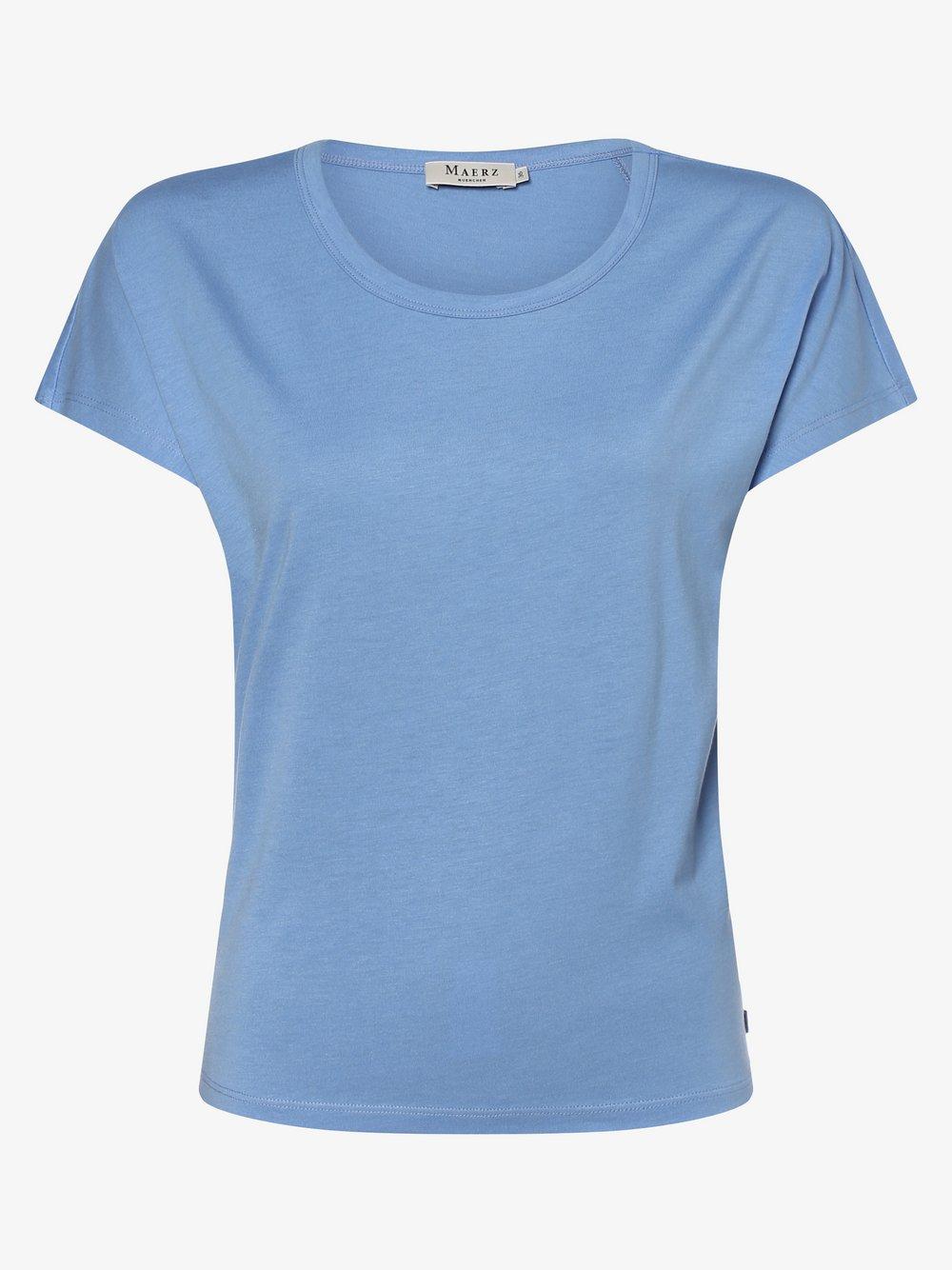 März - T-shirt damski, niebieski