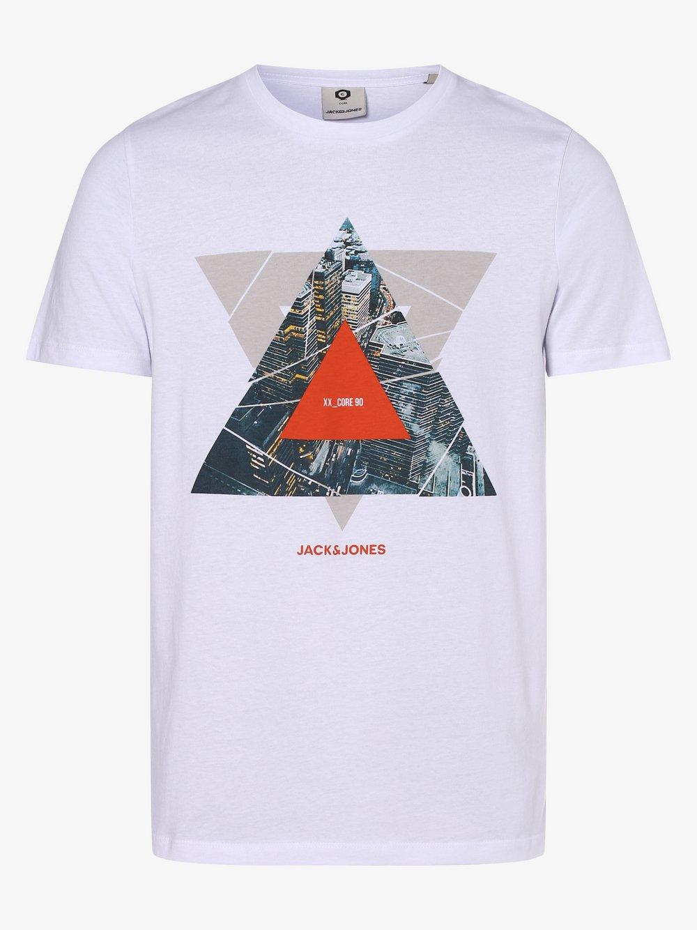 Jack & Jones - T-shirt męski – Jcoifter, biały