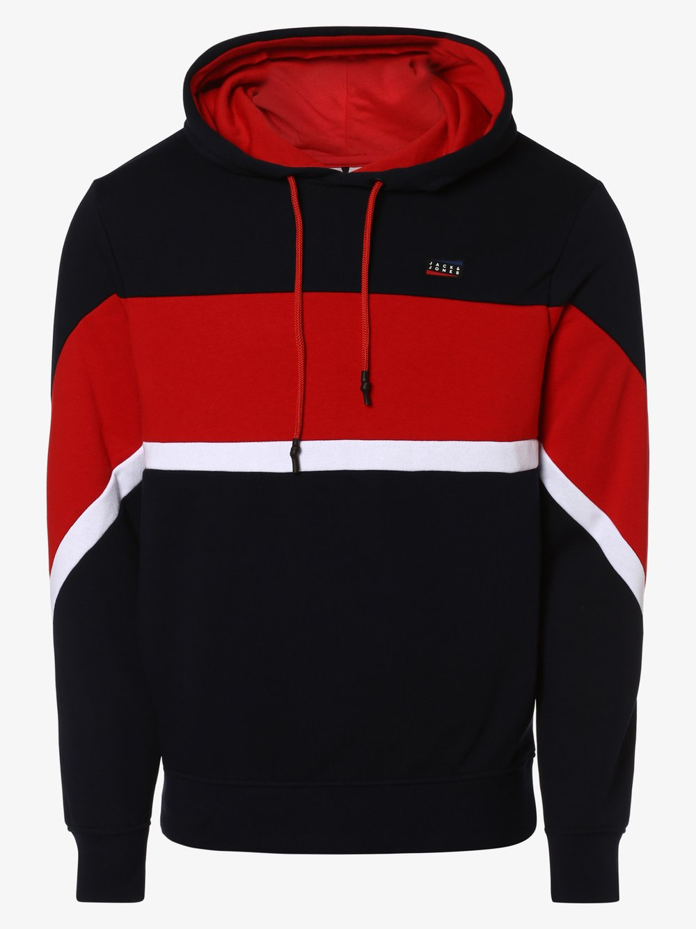 Jack & Jones - Męska bluza nierozpinana – Jcomaine, czerwony