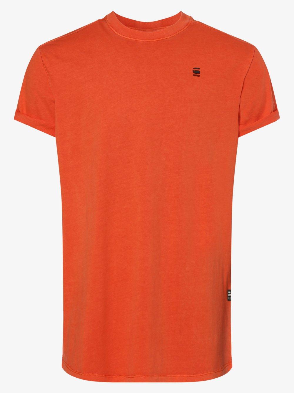 G-Star RAW - T-shirt męski, pomarańczowy