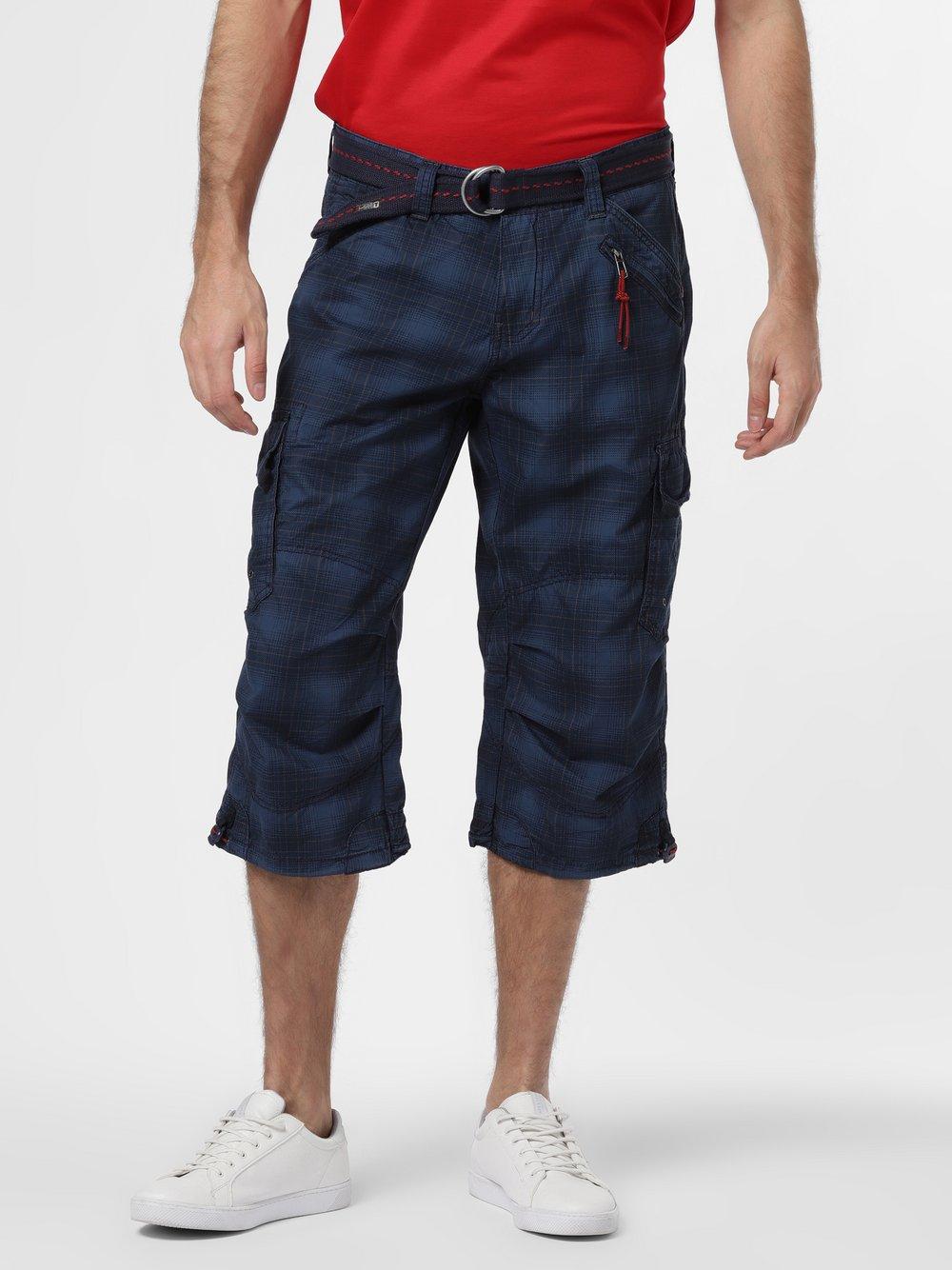 Timezone – Spodnie męskie, niebieski Van Graaf 466015-0001