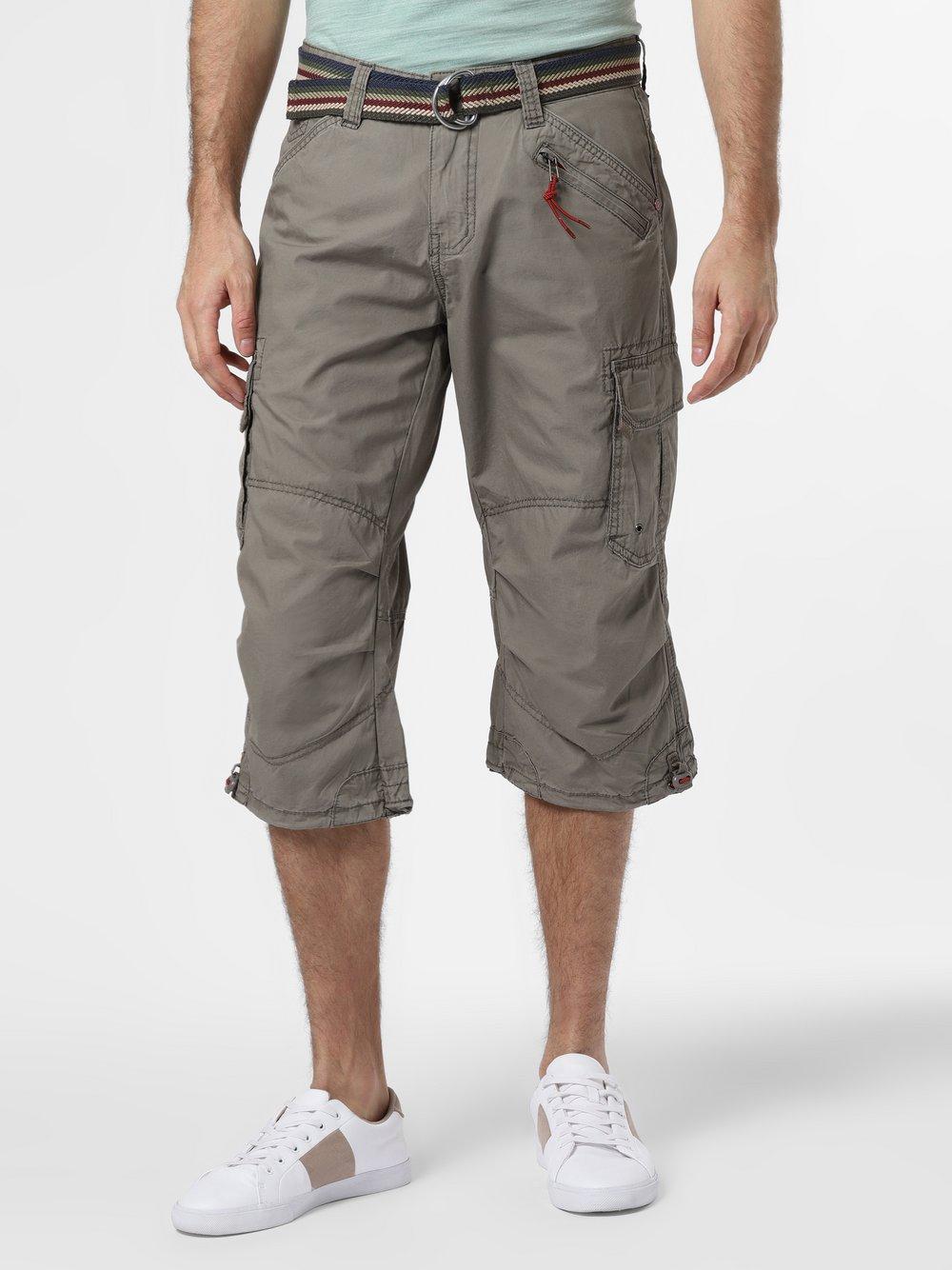Timezone – Spodnie męskie, szary Van Graaf 466016-0002-00330