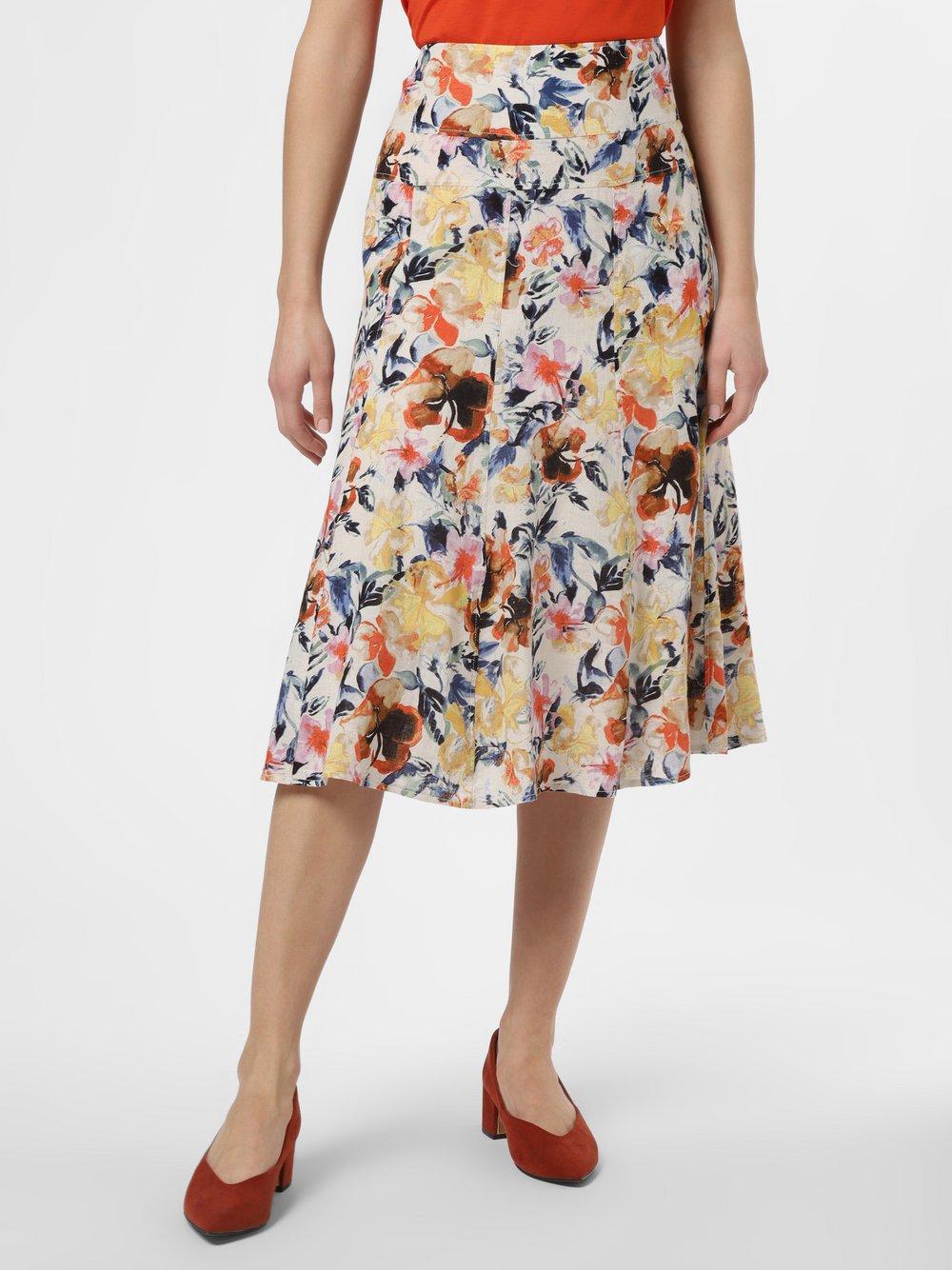 Franco Callegari - Damska spódnica lniana, pomarańczowy