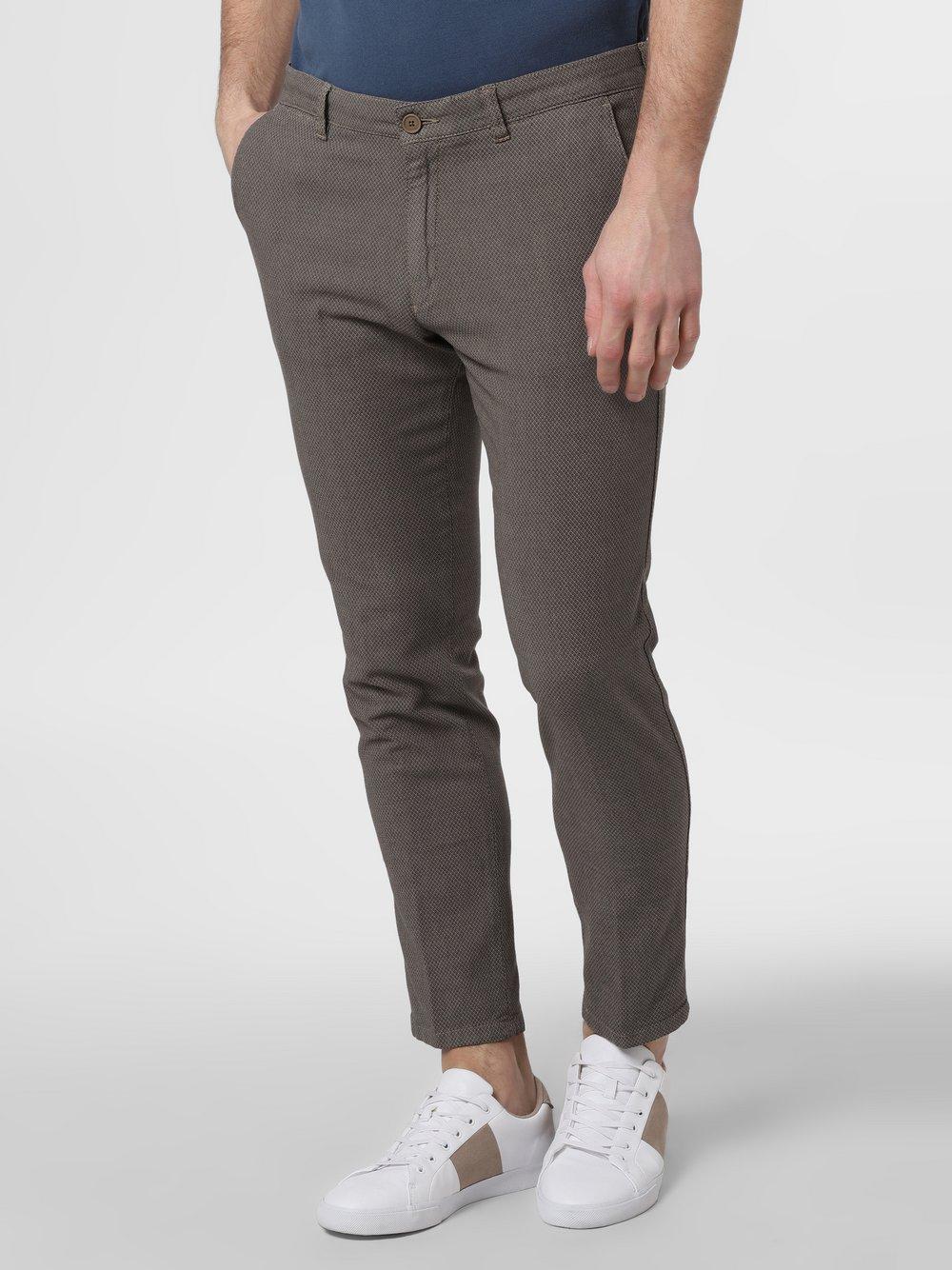 Drykorn - Spodnie męskie – Mad, brązowy