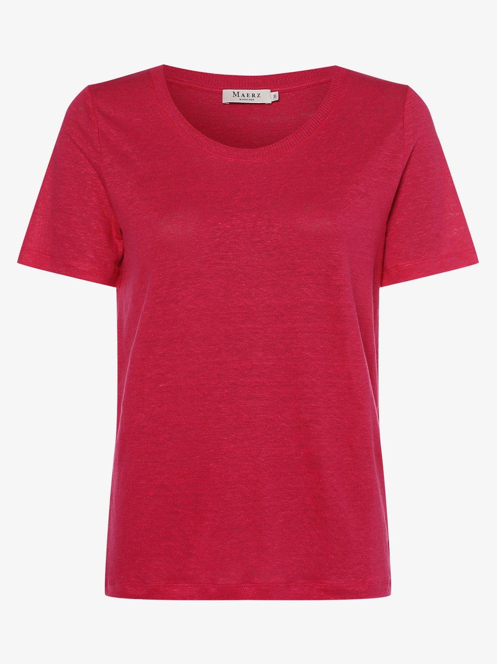 März – Damski T-shirt z lnu, czerwony Van Graaf 466110-0003-00360