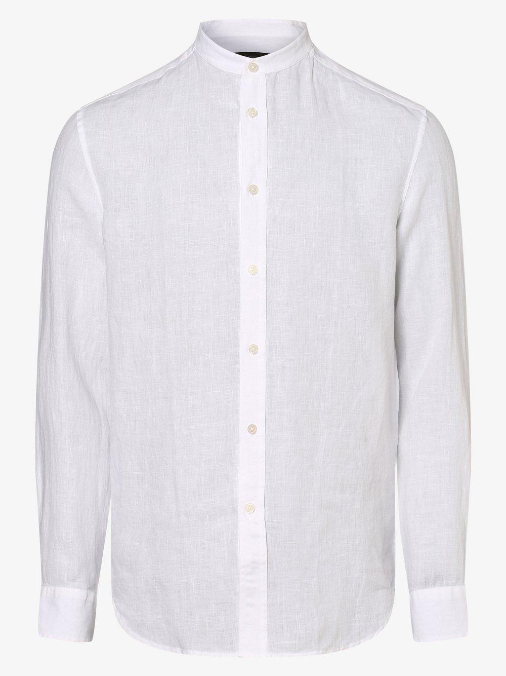 Drykorn - Lniana koszula męska – Tarok, biały