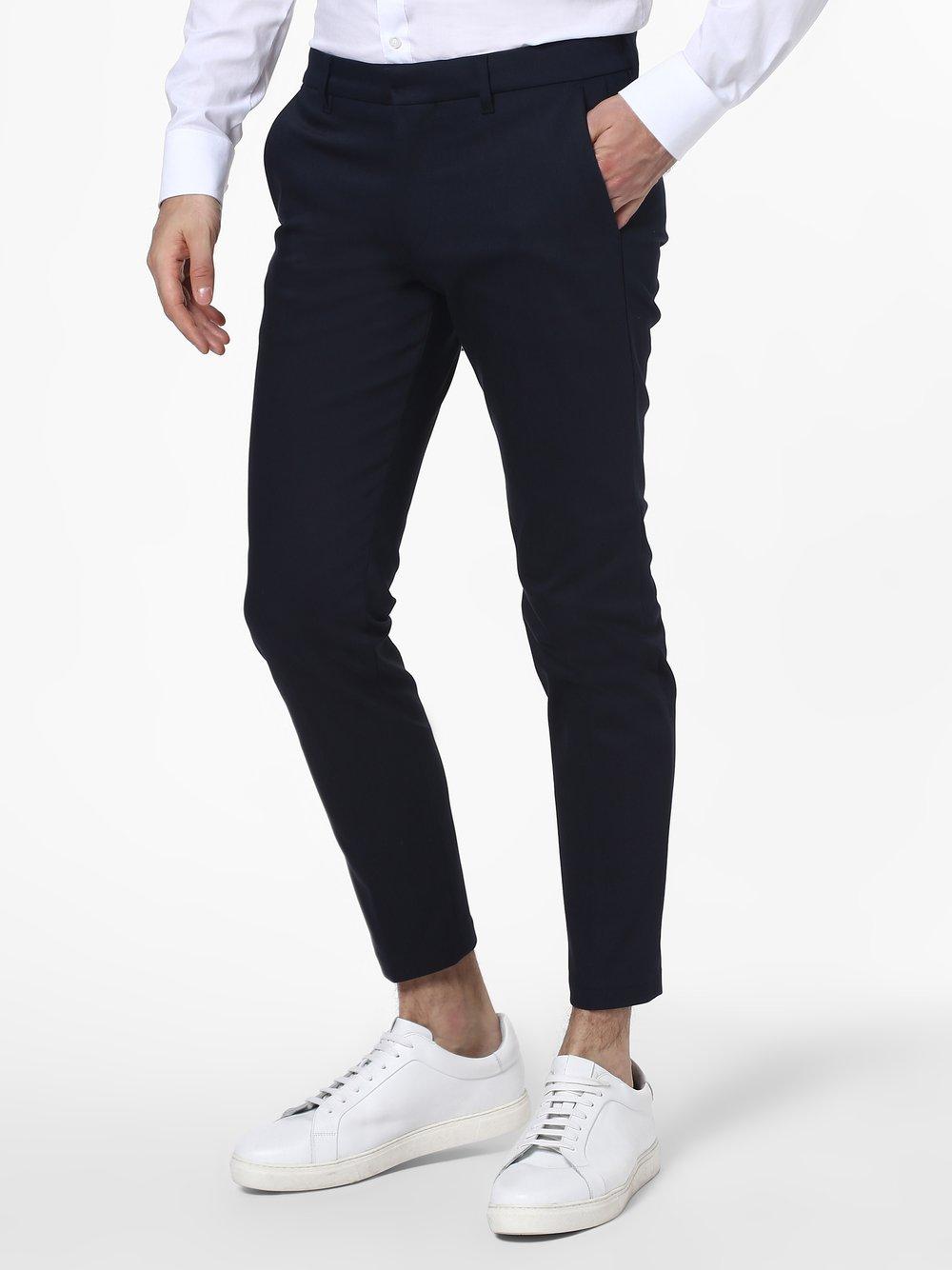 Drykorn - Męskie spodnie od garnituru modułowego – Sight, niebieski