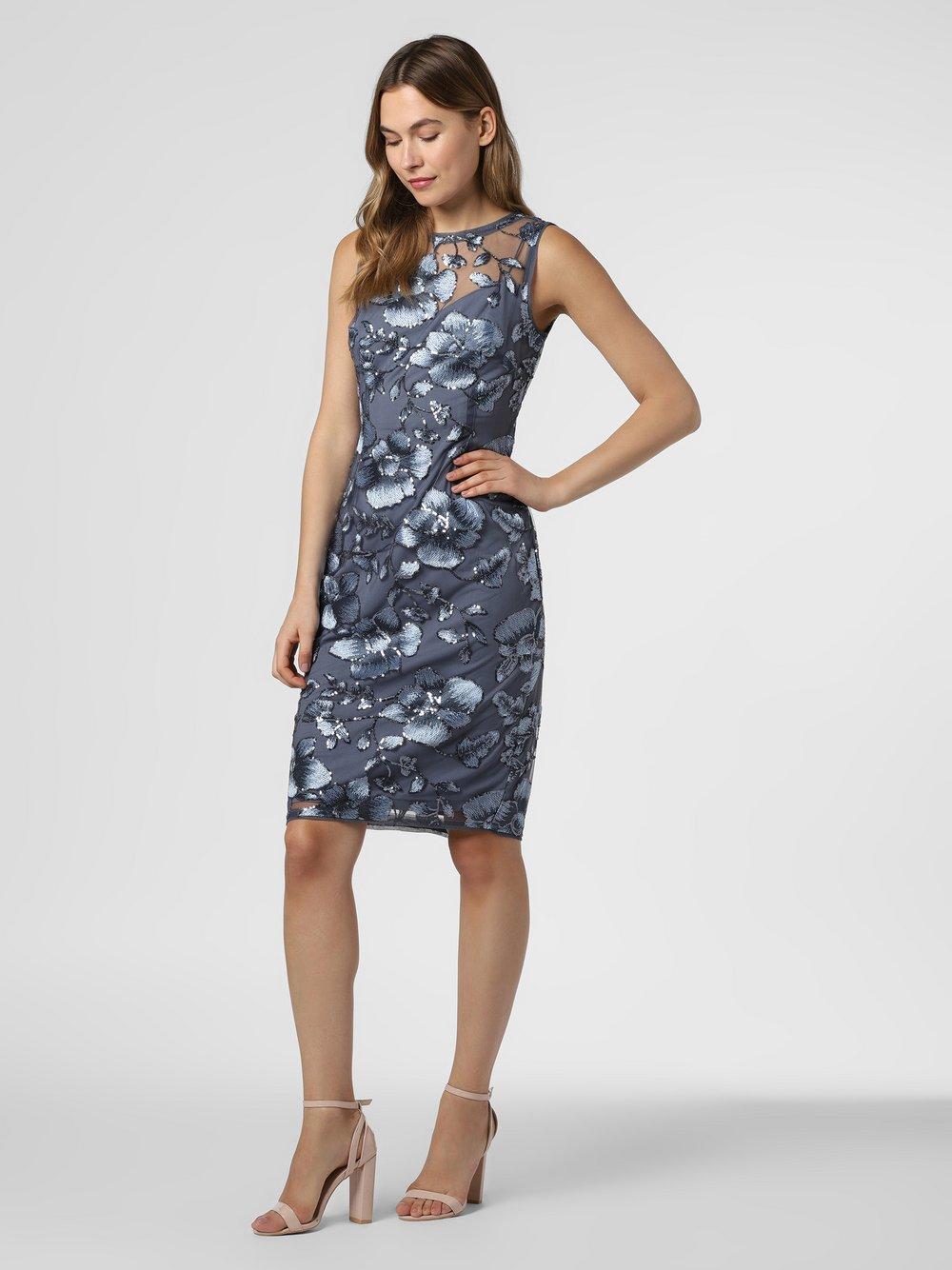 Adrianna Papell – Sukienka damska, niebieski Van Graaf 466189-0001