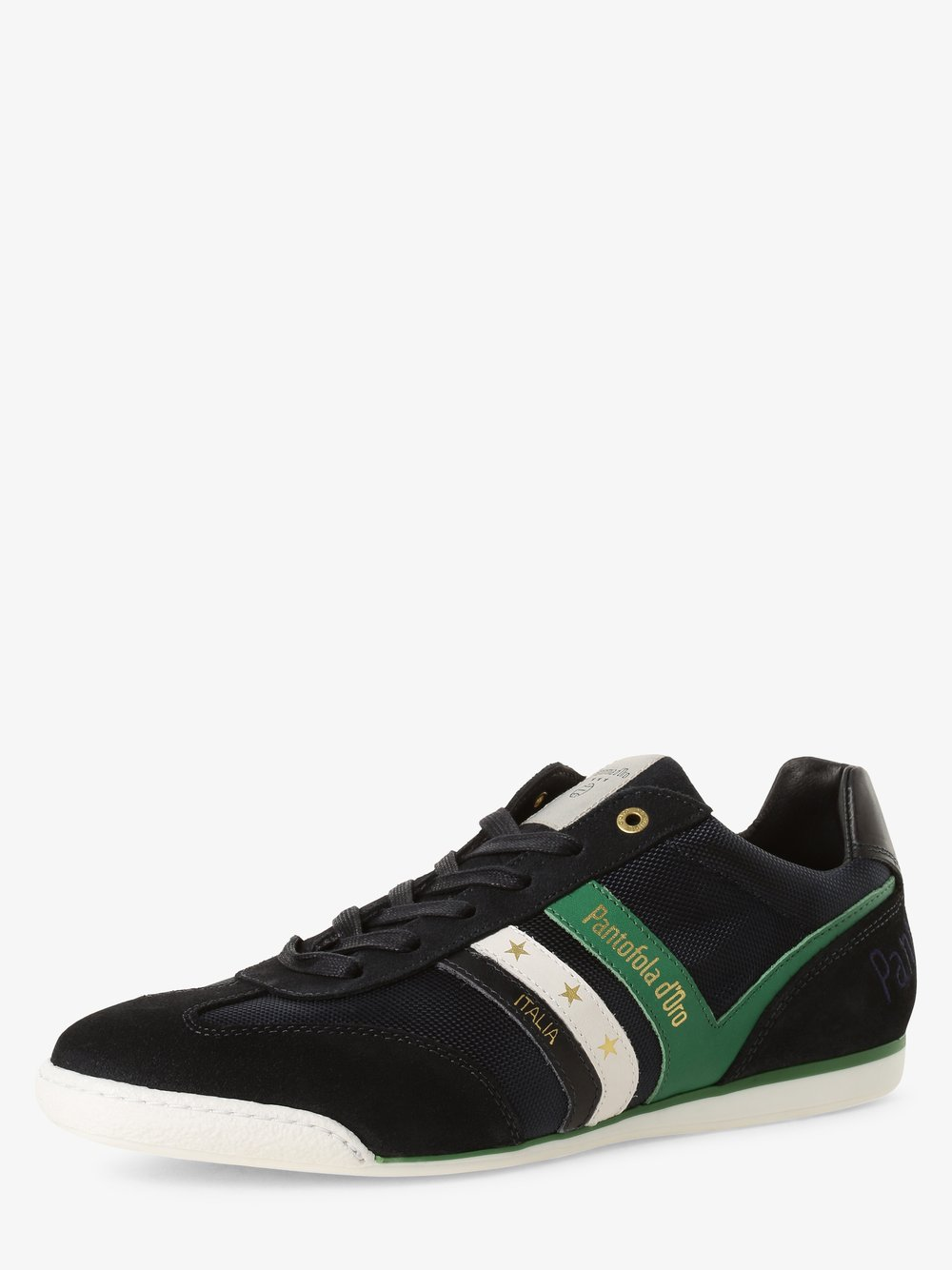 Pantofola d'Oro – Tenisówki męskie z dodatkiem skóry, niebieski Van Graaf 466225-0001