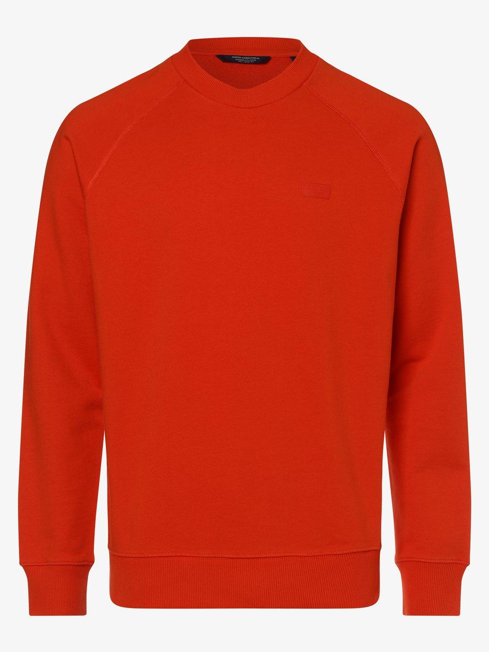 Scotch & Soda - Męska bluza nierozpinana, czerwony