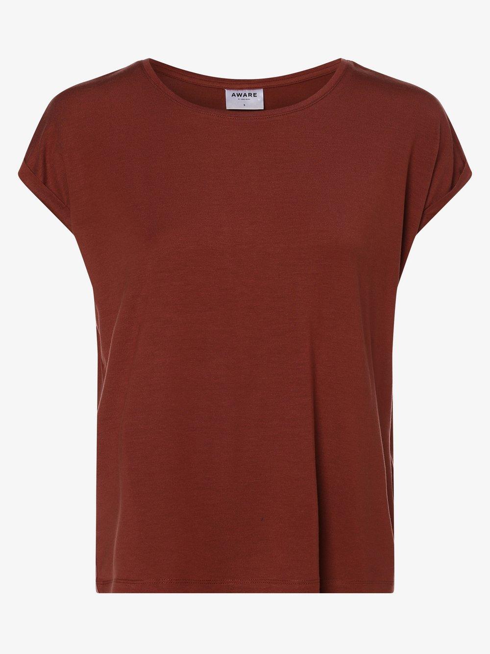 Vero Moda - T-shirt damski – Vmava Plain, czerwony