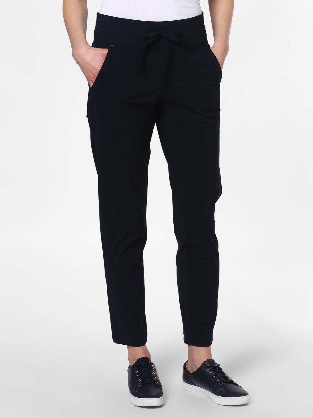 RAFFAELLO ROSSI – Spodnie damskie – łatwe w prasowaniu – Cynthia, czarny Van Graaf 466437-0001