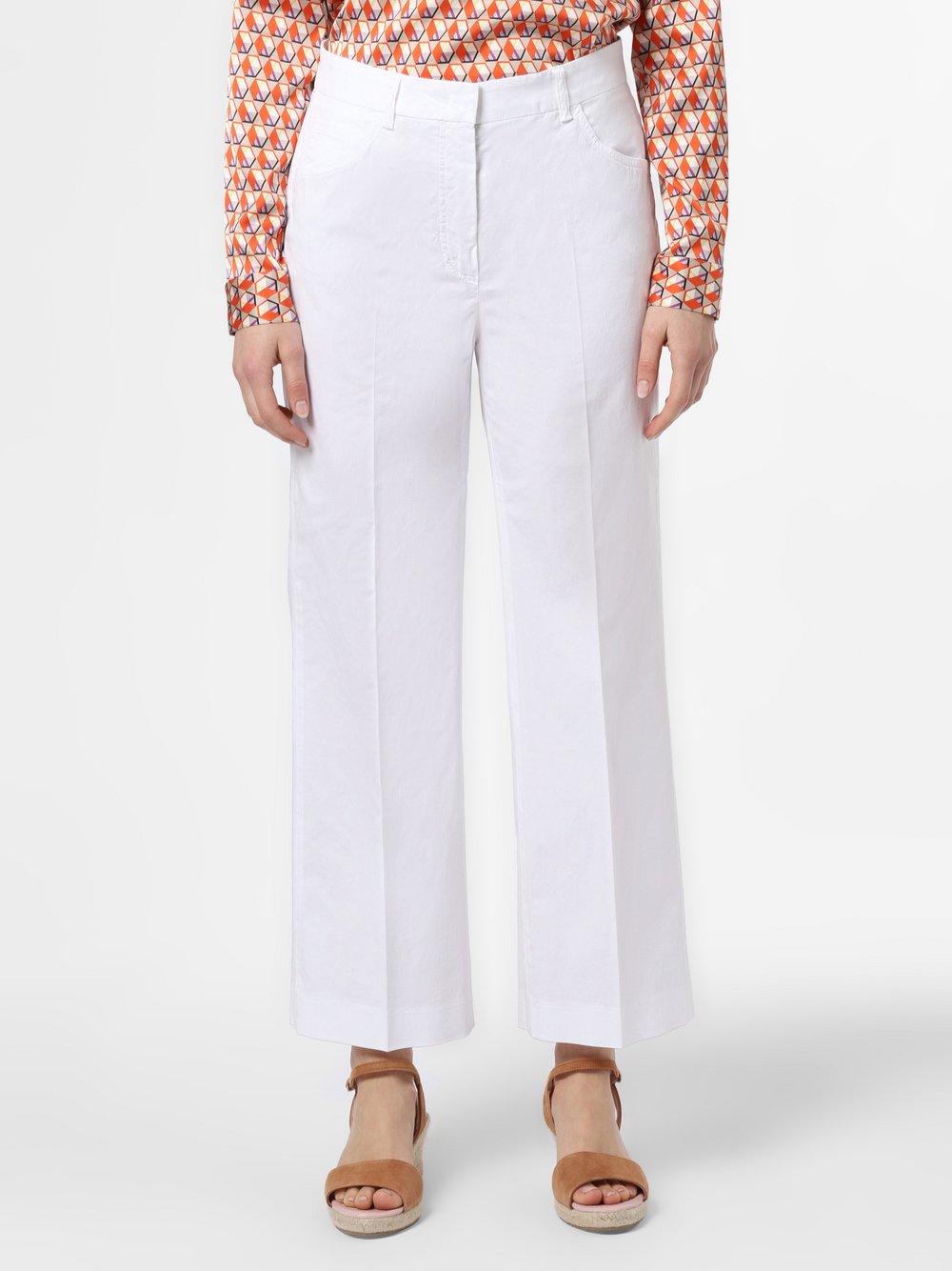 RAFFAELLO ROSSI – Spodnie damskie – Drona, biały Van Graaf 466446-0001-00380