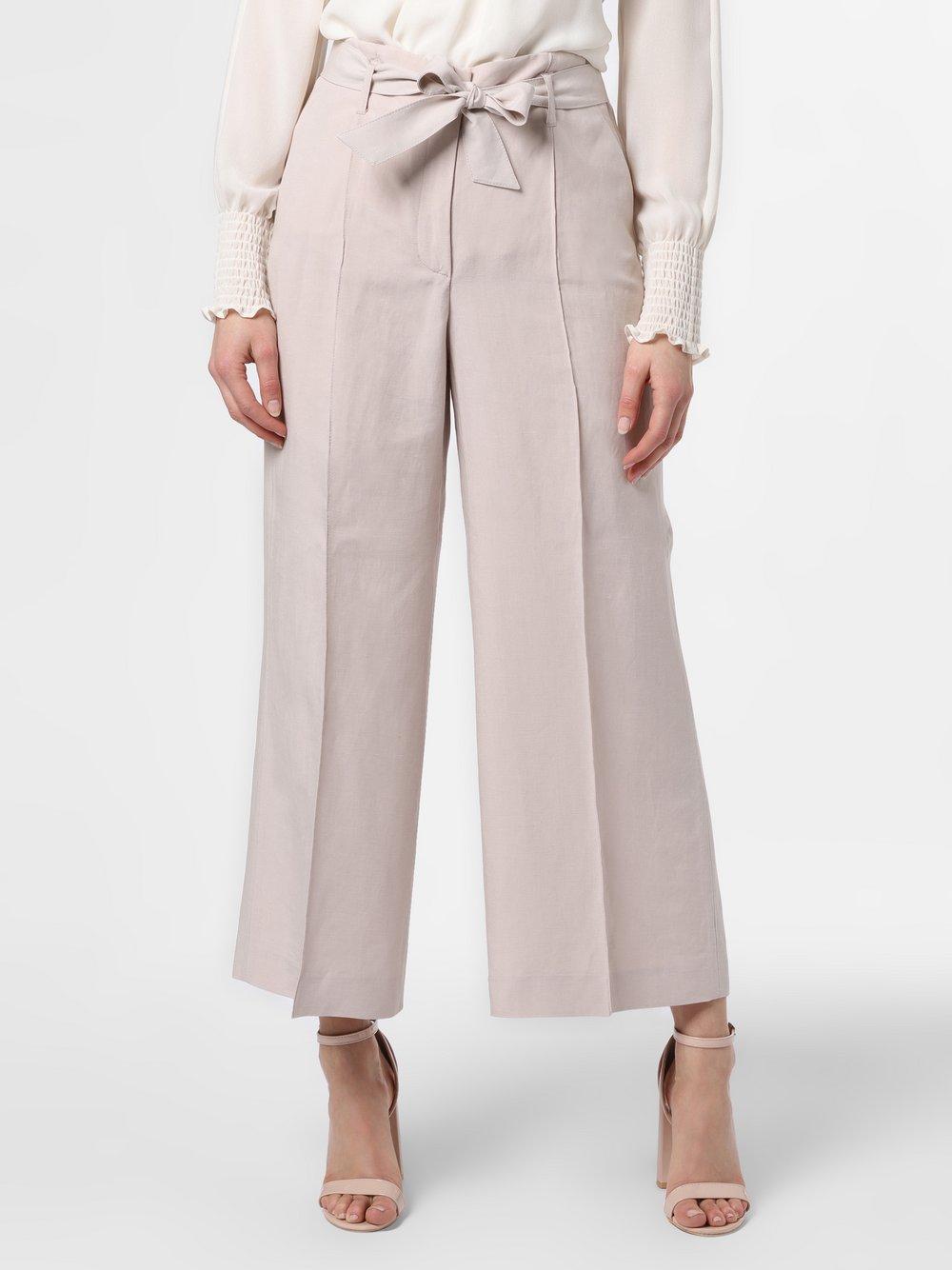 RAFFAELLO ROSSI – Spodnie damskie z dodatkiem lnu, beżowy Van Graaf 466448-0002-00380