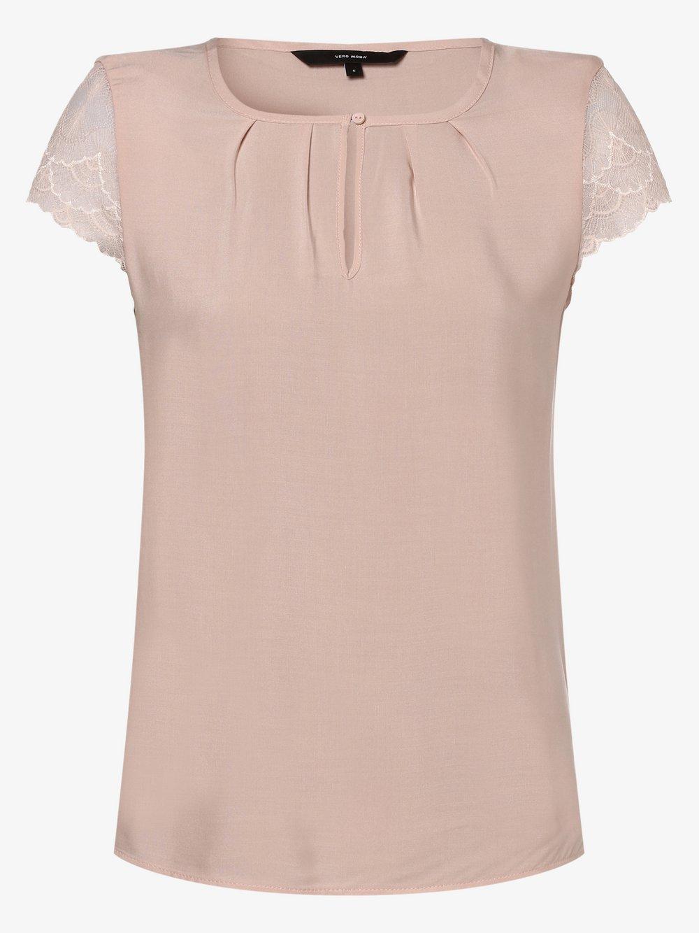 Vero Moda – Bluzka damska – Vmnina, różowy Van Graaf 466450-0001-09970