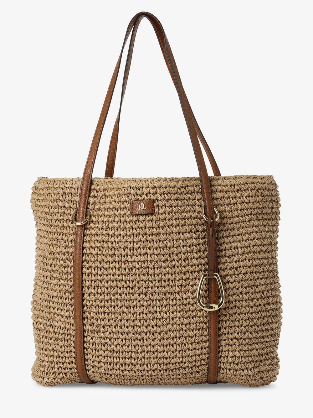 Lauren Ralph Lauren - Damska torba shopper, beżowy
