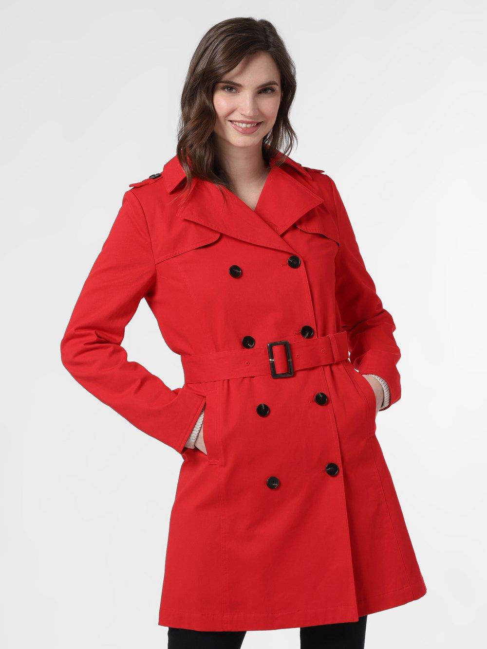 Marie Lund - Płaszcz damski, czerwony