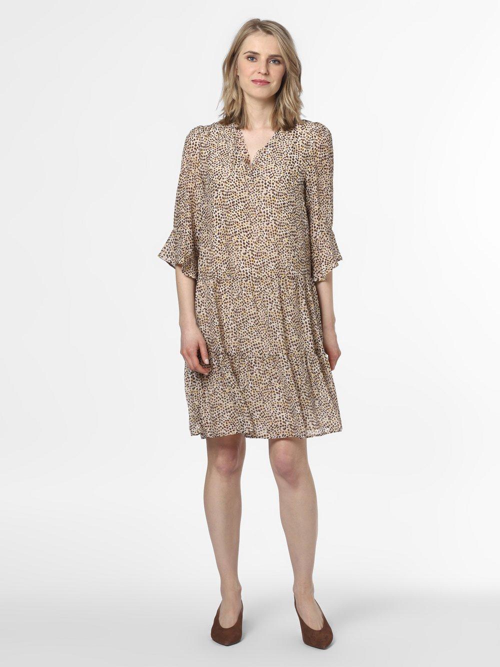 Marc Cain Collections – Damska sukienka jedwabna, beżowy Van Graaf 466707-0001