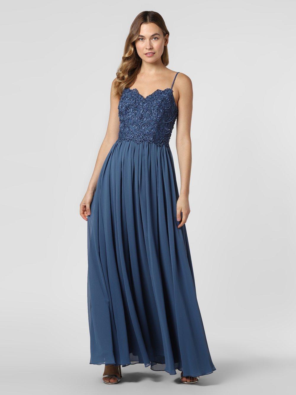 Laona – Damska sukienka wieczorowa, niebieski Van Graaf 466891-0001-00340