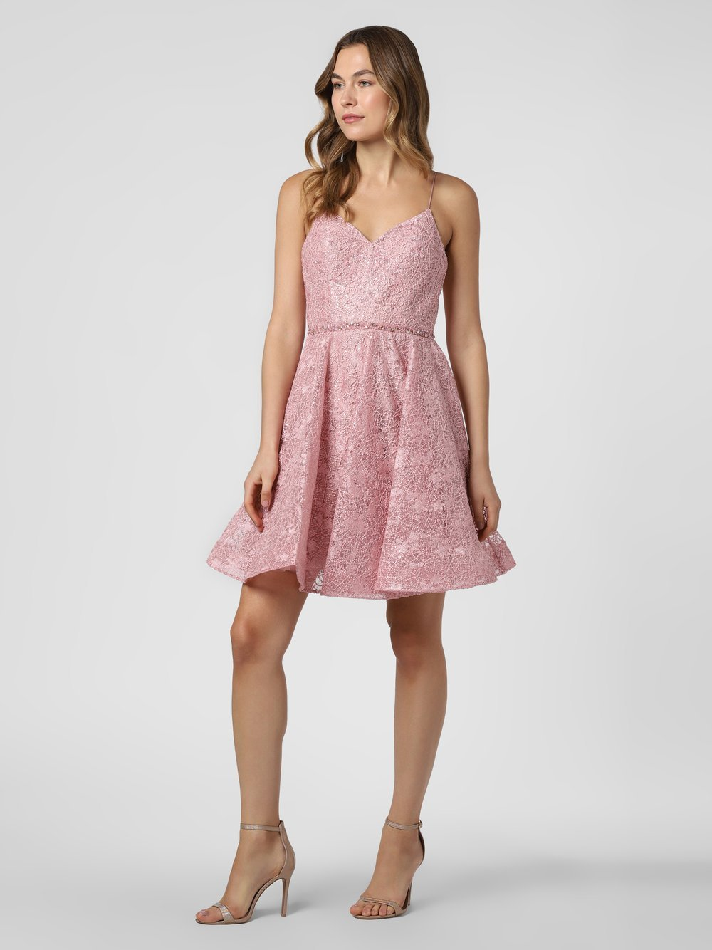 Laona – Damska sukienka wieczorowa, beżowy Van Graaf 466897-0001-00400