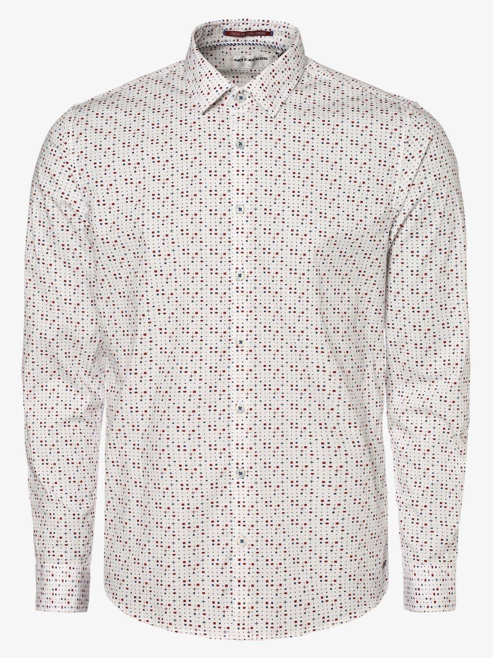 No Excess – Koszula męska, biały Van Graaf 466994-0001-09920