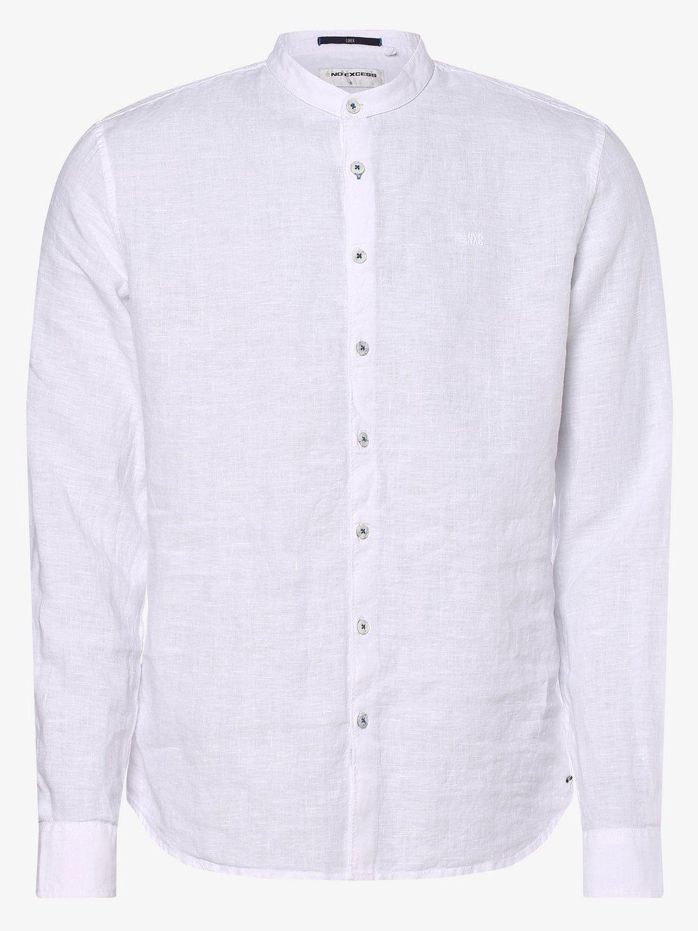 No Excess – Męska koszula lniana, biały Van Graaf 466996-0001