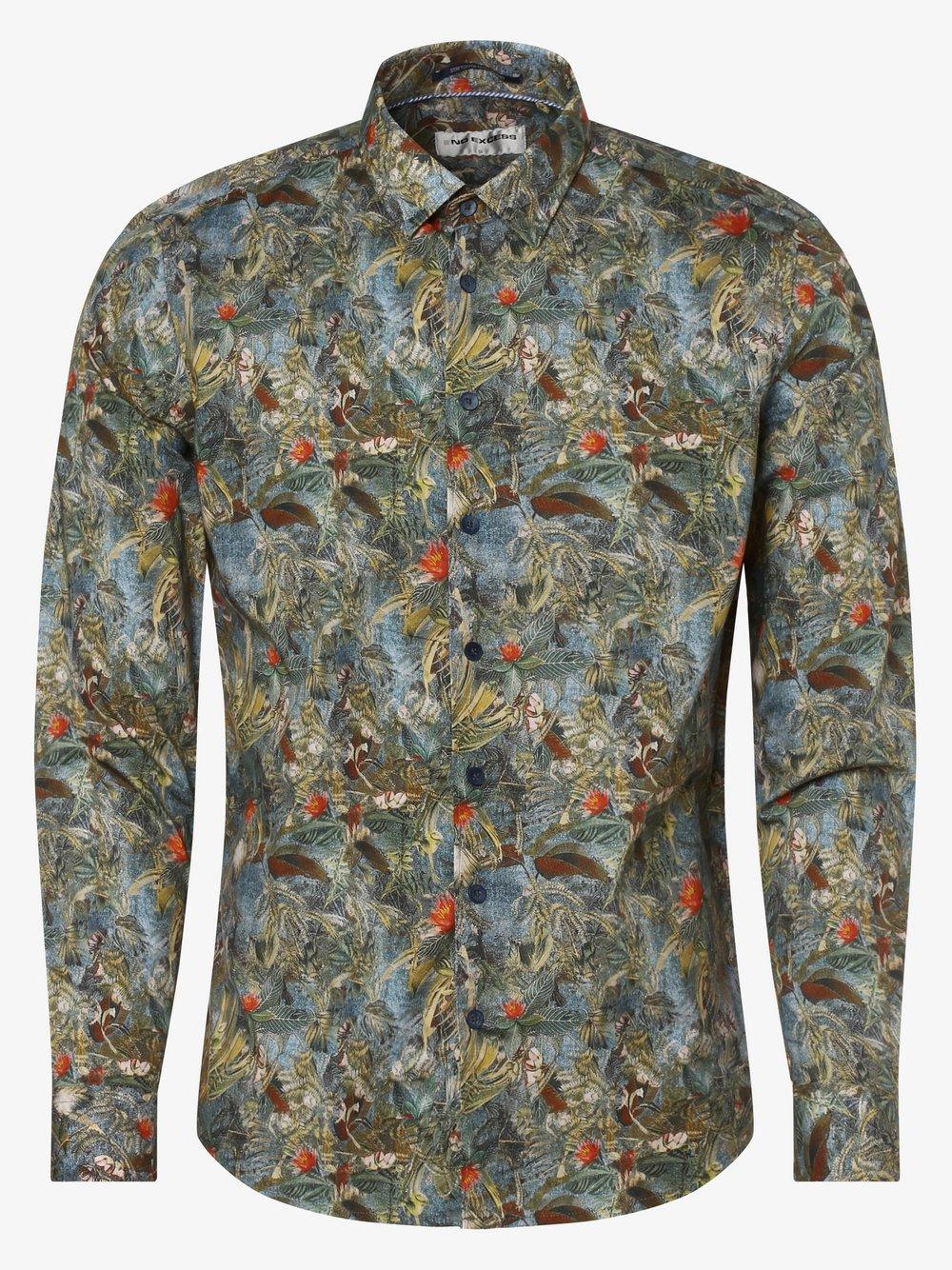 No Excess – Koszula męska, zielony Van Graaf 466998-0001-09990