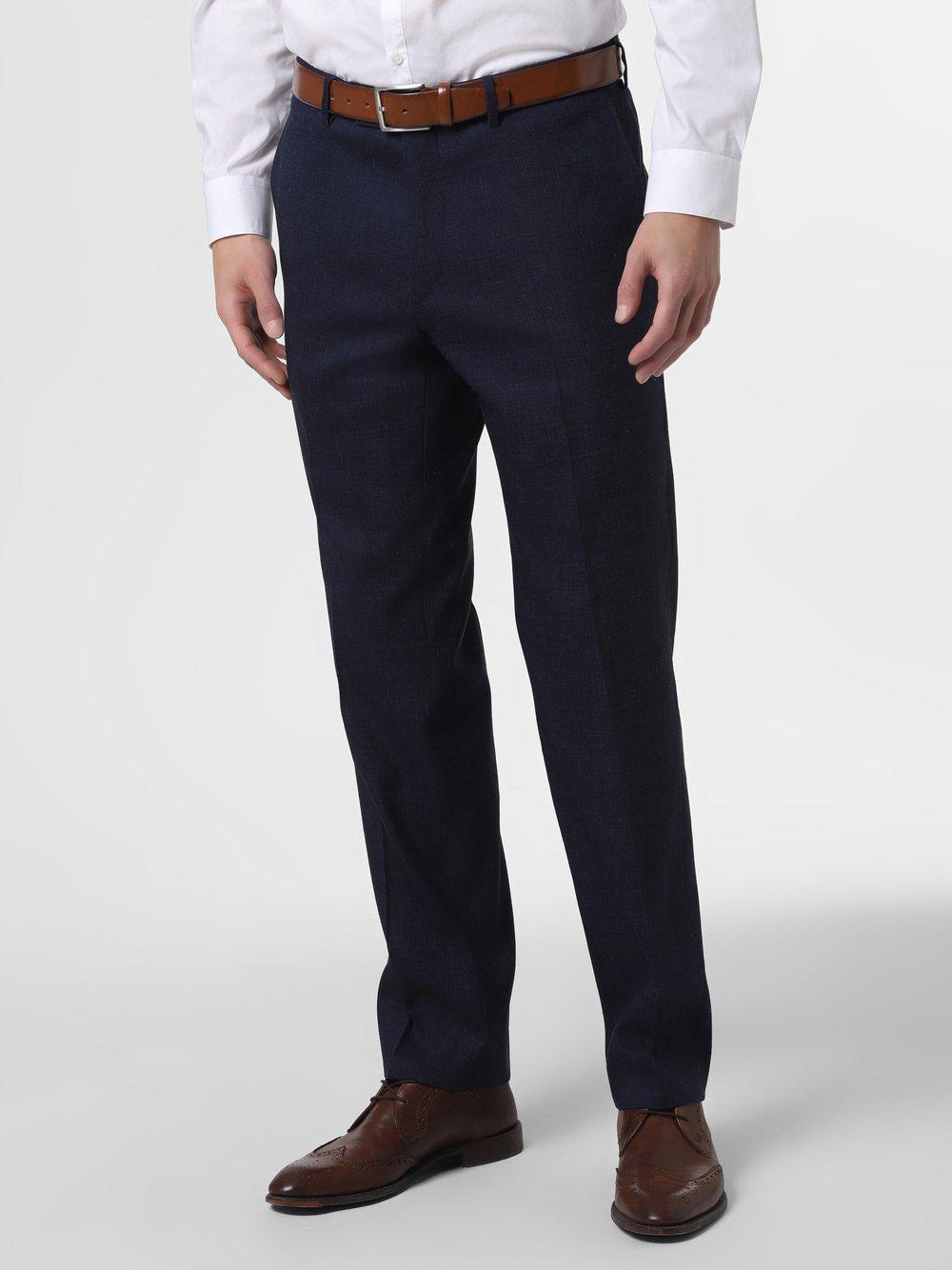 Andrew James New York – Męskie spodnie od garnituru modułowego – Carter, niebieski Van Graaf 467042-0001-00520