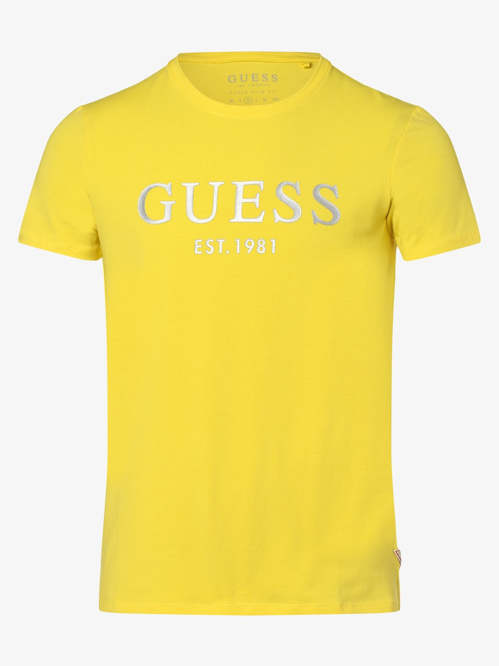 Guess Jeans - T-shirt męski, żółty