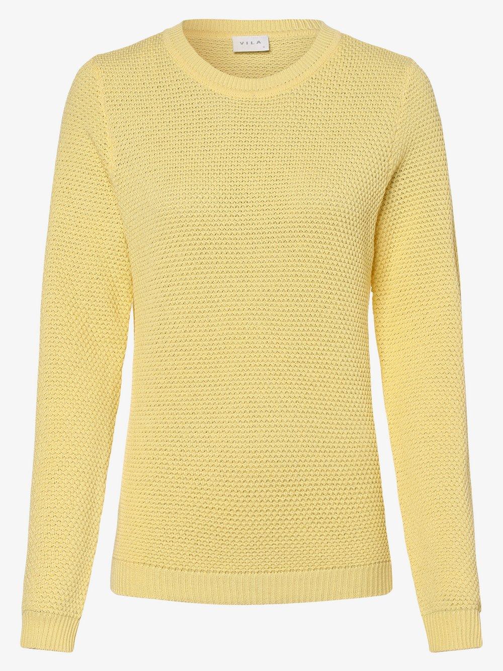 Vila - Sweter damski – VIChassa, żółty