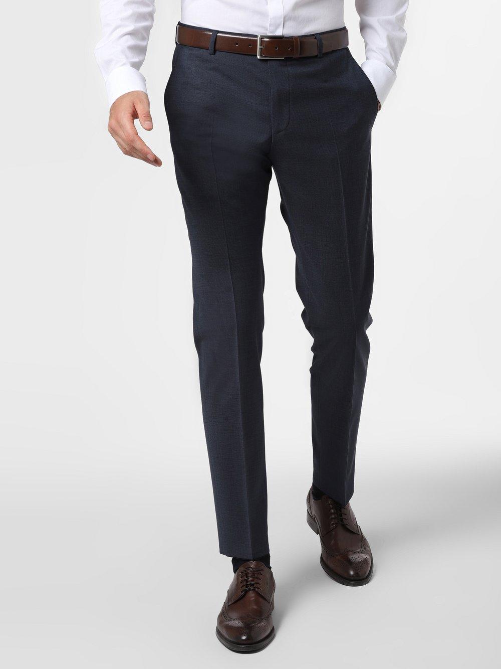 Strellson - Męskie spodnie od garnituru modułowego – Mercer2.0, niebieski