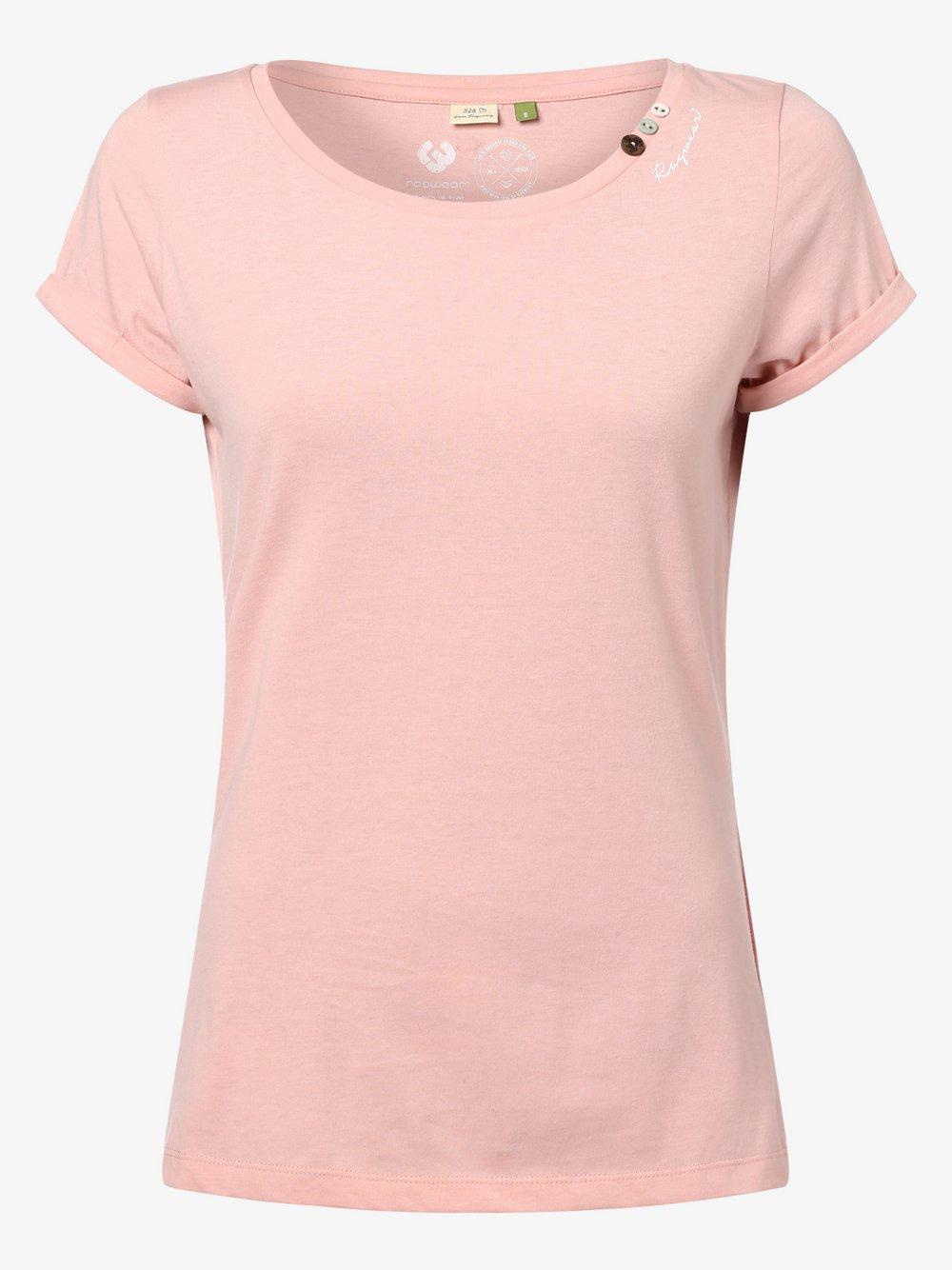 Ragwear - T-shirt damski – Florahh, różowy
