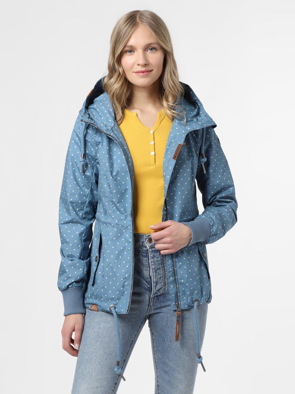 Ragwear – Parka damska – Danka Dots, niebieski Van Graaf 467421-0001-09940