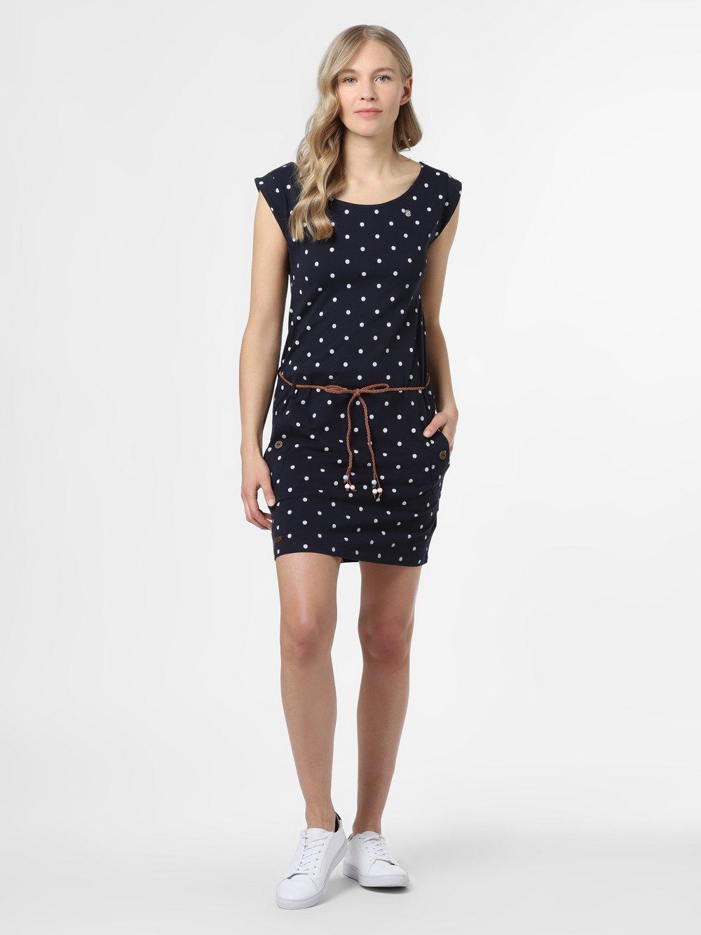 Ragwear – Sukienka damska – Tag Dots, niebieski Van Graaf 467428-0001-09960