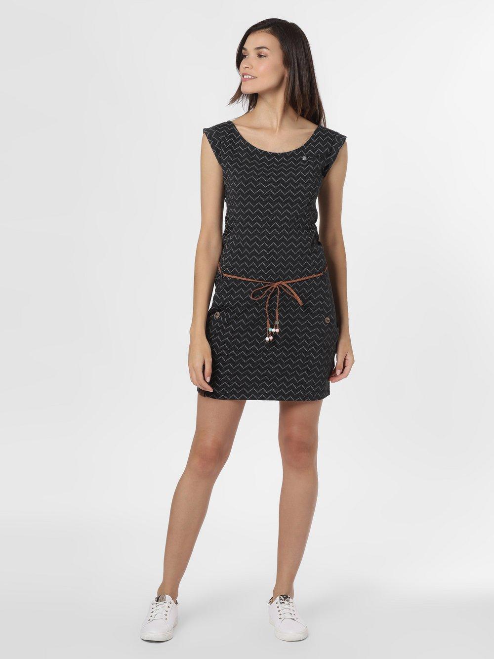 Ragwear – Sukienka damska – Tag Zig Zag, czarny Van Graaf 467429-0001-09900