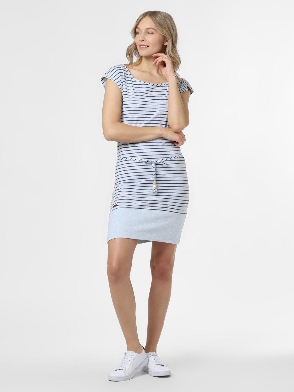 Ragwear – Sukienka damska – Soho Stripes, biały Van Graaf 467430-0001-09900