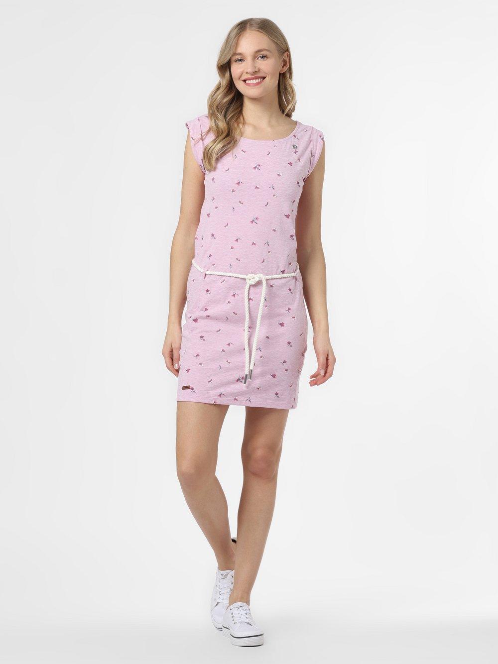 Ragwear – Sukienka damska – Tamy, różowy Van Graaf 467432-0001-09920