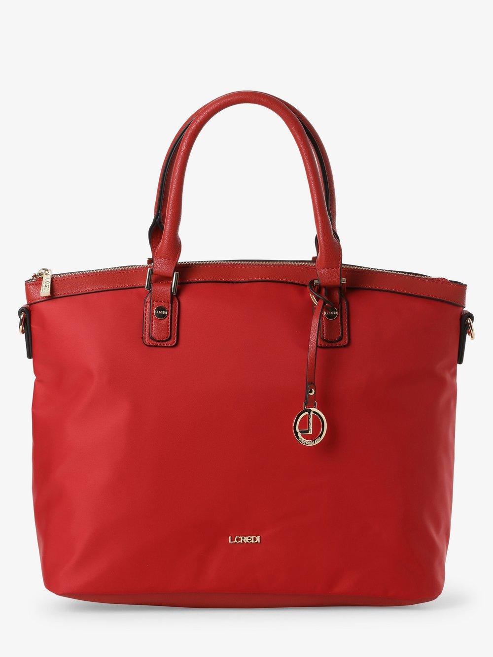 L.Credi - Damska torba shopper – Elena, czerwony