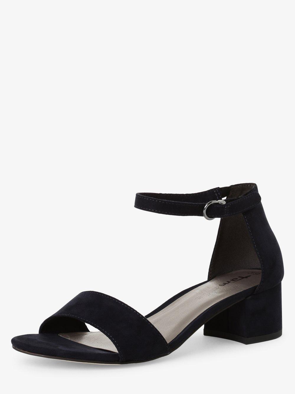 Tamaris - Damskie sandały na obcasie, niebieski